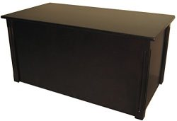 Large Espresso Wooden Toy Box and Blanket Chest – All Wood – Optional Cedar Base (Ce ...