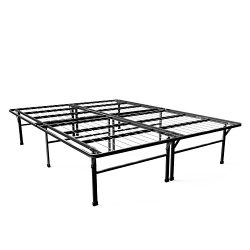 Zinus 16 Inch SmartBase Deluxe Mattress Foundation/ 2 Extra Inches high for Under-bed Storage /  ...