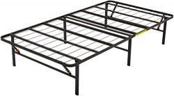 AmazonBasics Platform Bed Frame, Black, Twin X-Large