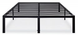 Olee Sleep 14 Inch T-3000 Heavy Duty Steel Slat / Non-slip Support Bed Frame 14BF04Q (QUEEN)