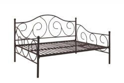 DHP Victoria Daybed Metal Frame, Multifunctional, Includes Metal Slats, Full Size, Bronze