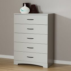 South Shore Step One 5-Drawer Chest, Soft Gray