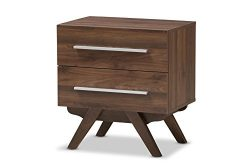 Baxton Studio 424-7996-AMZ Audhild 2-Drawer Nightstand, Regular