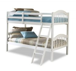 Storkcraft Long Horn Solid Hardwood Twin Bunk Bed, White