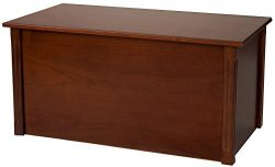 Large Cherry Wooden Toy Box and Blanket chest – All Wood – Optional Cedar Base (Stan ...