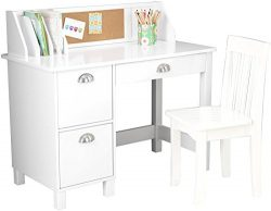 KidKraft Kids Study Desk with Chair-White