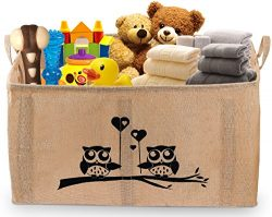 Gimars X-Large Well Standing 26″ Toy Chest Baskets Storage Bins for Dog Toys, Kids & C ...