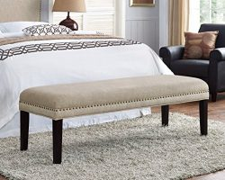 Pulaski Selma Upholstered Bed Bench, Tan