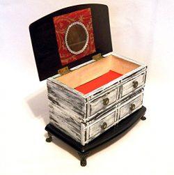 Personalized Jewelry Box Wood, Jewelry Box Drawers, Jewelry Organizer, Jewelry Cabinet Box, Jewe ...