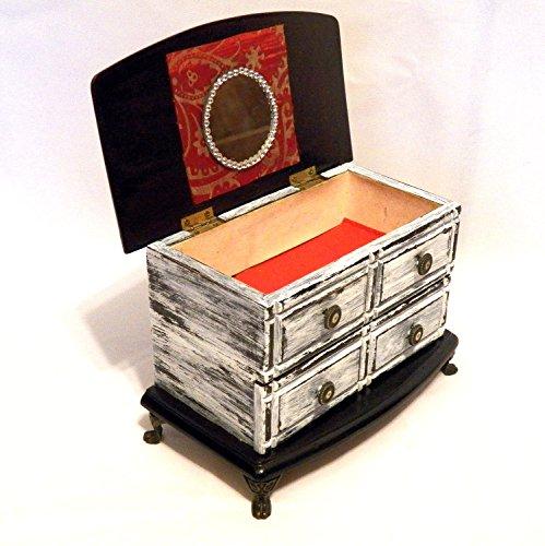 Personalized Jewelry Box Wood Jewelry Box Drawers Jewelry