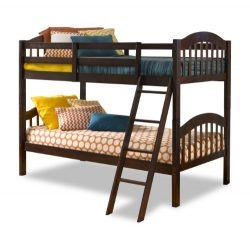 Storkcraft Long Horn Solid Hardwood Twin Bunk Bed, Espresso
