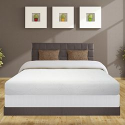 Best Price Mattress 8″ Air Flow Memory Foam Mattress and 7.5″ New Steel Box Spring/M ...