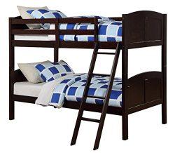 Angel Line Creston Twin Over Twin Bunk Bed, Espresso