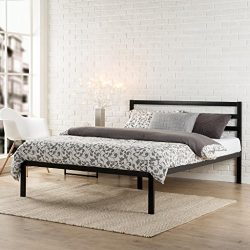 Zinus Modern Studio 14 Inch Platform 1500H Metal Bed Frame / Mattress Foundation / Wooden Slat S ...