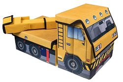 Kids Construction Crane Collapsible Toy Storage Organizer by Clever Creations | Toy Box Folding  ...