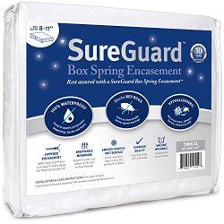 Twin XL SureGuard Box Spring Encasement – 100% Waterproof, Bed Bug Proof, Hypoallergenic & ...