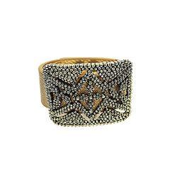 Ella's Armoire Bronze Cuff Antique Gold Rectangle Buckle Bracelet