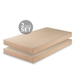 Zinus Memory Foam 5 Inch Twin Mattress, Set of 2