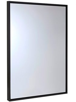 Clean Large Modern Wenge Frame Wall Mirror   Contemporary Premium Silver Backed Floating Glass P ...