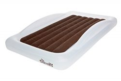 The Shrunks Toddler Travel Bed Portable Inflatable Air Mattress Bed for Travel or Home Use, Whit ...