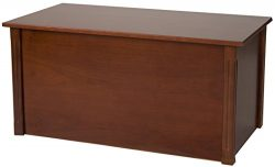 Large Cherry Wooden Toy Box and Blanket chest – All Wood – Optional Cedar Base (Ceda ...