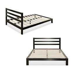 Zinus Modern Studio 10 Inch Platform 2000H Metal Bed Frame / Mattress Foundation / Wooden Slat S ...