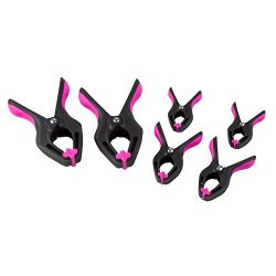 The Original Pink Box PB6CLAMP Spring Clamps, Pink, 6-Piece