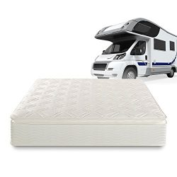 Zinus Deluxe Spring 10 Inch Pillow Top RV / Camper / Trailer / Truck Mattress, Short Queen