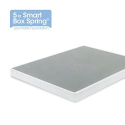Zinus 5 Inch Low Profile Smart Box Spring / Mattress Foundation / Strong Steel structure / Easy  ...