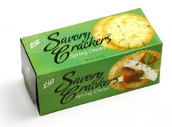 Elki Savory Crackers Spring Onion, 2.2 Ounce Boxes (Pack of 24)