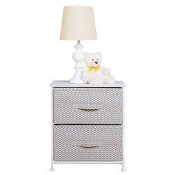 mDesign Chevron Fabric Baby 2-Drawer Dresser and Storage Organizer Unit for Nursery, Bedroom, Pl ...
