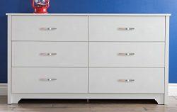 South Shore Furniture Fusion Dresser, Pure White