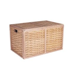 Household Essentials ML-5675 Extra Large Wicker Storage Box with Lid – 15.75″H x 27. ...
