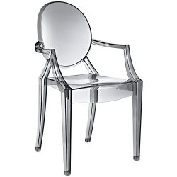 Modway Casper Modern Acrylic Dining Armchair in Smoked Clear