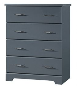 Storkcraft Brookside 4 Drawer Chest, Gray