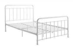 "DHP Brooklyn Metal Iron Bed w/ Headboard and Footboard, Adjustable height (7"" or 11"" clearance f ..."