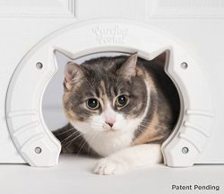 Built in Pet Door for Medium and Large Cats | Fits Interior Hollow Core or Solid Wood Doors | Te ...