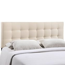 Modway Lily Upholstered Tufted Fabric Headboard King Size In Ivory