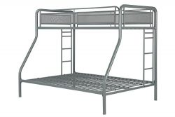 DHP Rockstar Metal Bunk Bed, Twin-Over-Full – Silver