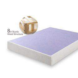 Zinus 8 Inch Profile Wood Box Spring / Mattress Foundation, Queen