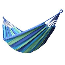 IFLYING Colorful Multifunctional Hammock Cotton Fabric Travel Camping Hammock 2 Person 450lbs fo ...