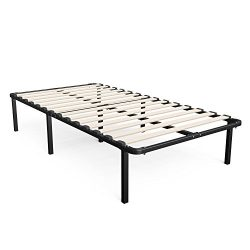 Zinus 14 Inch MyEuro SmartBase / Wooden Slat / Mattress Foundation / Platform Bed Frame / Box Sp ...
