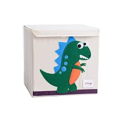 Foldable Storage Box with Lids, Wo Baby Canvas Collapsible Storage Cube Orginizers for Toys, Clo ...