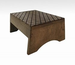 Step Stool Solid Hardwood in Espresso by Candlewood Furniture Bed Bedroom Kids Foot Stool
