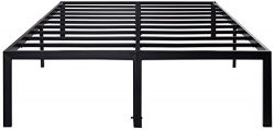 Sleeplace SVC18BF04C 18 Inch Tall Heavy Duty Steel Slat Support/ Non-Slip Features/Modern Black/ ...