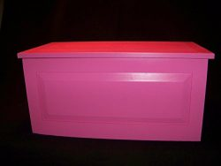 Pink – Hope – Toy – Blanket Chest -Girl Gift- Lined in Black Felt