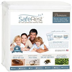 SafeRest Premium Box Spring Encasement – Lab Tested – 100% Bed Bug, Dust Mite and Wa ...