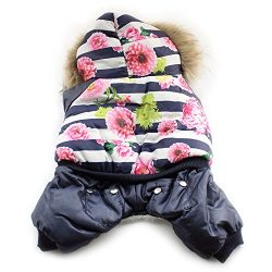 Armi store Floral Fashion Winter Warm Dog Coat Dogs Stripe Coats Pet Jackets 6141028 Ppuppy Clot ...