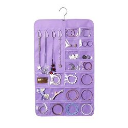 J.C Arts 7 Layers Hanging Jewellery Closet Storage Pouch Non-woven Organizer Bag with Hanger for ...