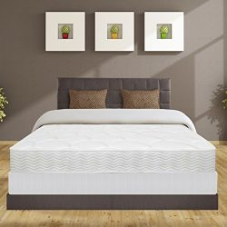 Best Price Mattress 8″ iCoil Spring Mattress & New Innovative Box Spring Set, Queen, White